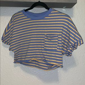 TopShop Cropped Striped Top